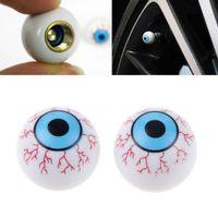 Wholesale New Creative Eye Ball Pattern Auto Wheel Valve Air Stem Cap Cover Tire Screw Dust Plug for Car Truck Bike A5