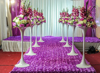 Table Cloth stage prop - 2016 Wedding props carpet catwalk carpet rose petals carpet wedding stage carpet wedding decoration wedding carpet