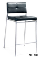 bar back furniture - modern gloss bright stainless steel bar stool chair with back footrest