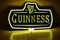 Wholesale NEW Guinness Logo NEON SIGN REAL GLASS TUBE BEER BAR PUB Neon Light Sign store display