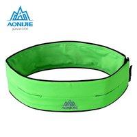 Wholesale AONIJIE Sports Marathon Hydration Belt Running Mountaineering Fanny Pack Men Women Waist Packs Running Accessories green