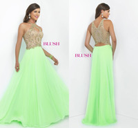 Cheap charming Lime Green Bridesmaid Dresses Hollow Chiffon Beaded Off The Shoulder Formal Prom Gowns Floor Length A-Line Evening Dresses Custom
