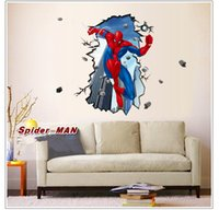 3D Sticker abstract factories - 70cm cm Large Factory Direct D Hd Spiderman Wall Stickers Home dDecor Partial UV Matte Personalized Fashion Creative Wall Stickers