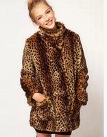 british sexy girls - British Fashion Sweet Girl Sexy Leopard Print Faux Fur Long Outerwear Artifical Fur Winter Fall Warm Character Coats Jacket YR47