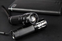 Wholesale Mini LED Flashlight W CREE Q5 Aluminum Alloy Zoomable Adjustable Led Handy Outdoor Waterproof Flashlight Torch For Sporting Camping Hiking