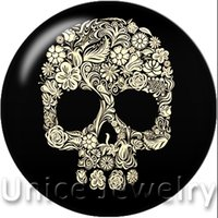 animal skull for sale - AD1301101 mm Snap On Charms for Bracelet Necklace Hot Sale DIY Findings Glass Snap Buttons Jewelry Skull Design noosa