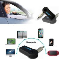 Wholesale Universal mm Streaming Car A2DP Wireless Bluetooth AUX Audio Music Receiver Adapter Handsfree with Mic For Phone MP3