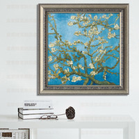 almond paintings - D stereoscopic paintings of Van Gogh Almond precise printing stitch stitch latest series of large paintings living room