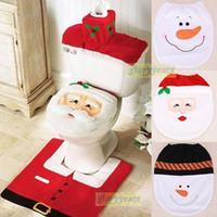 snowman decoration - TMC Modern Christmas Santa Claus Bathroom pc Toilet Seat Cover Decoration Snowman Chair for Home Holiday Gift Supplies