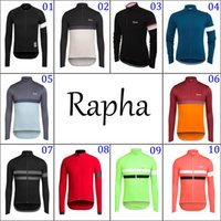 Wholesale 10 Colors Long Sleeve Rapha Cycling Clothes Fashion Cycling Jerseys Winter Thermal Fleece Bike Outdoor Breathable Bicycle Clothing