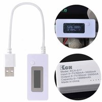 Wholesale LCD Digital USB Charger Cell Phone Power Bank Battery Capacity Voltage Tester Meter Current Detector V Voltmeter Monitor