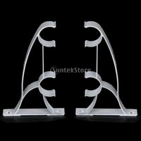 Wholesale New Brand New Metal Double Curtain Drapery Rod Bracket fits mm Drape Rods White