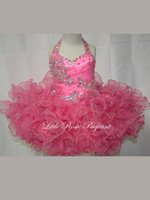 Cheap Reference Images flower girl dress Best Toddler Beads Little Girls Pageant Dress