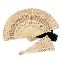 Wholesale Chinese Japanese Sandalwood Hand Fan Wooden Scented for Wedding Party Gift