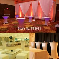 bar table legs - Spandex Lycra Cover Tablecloth For Leg cm Poseur Cocktail Bar Table Wedding Party Event Decorations