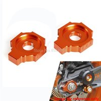 motorcycle chain adjuster - CNC Rear Axle Spindle Chain Adjuster Blocks For KTM Duke RC125 Motorcycles Decoration