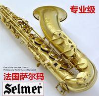 Wholesale EMS The French SELMER Salma B flat Alto Sax brushed antique