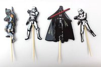 Wholesale 720pcs The Star Wars Party Supplies Cartoon Cupcake Toppers Pick Birthday Decoration Kids Party Favors
