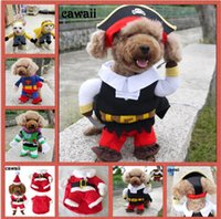 Wholesale Dogs Christmas Clothes Cute Pet Pirate Buss Superman Incarnations Clothes Autumn And Winter Warm Pet Dogs And Cats Clothing