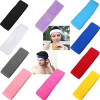 stretch band - Headband Hair Band Unisex Stretch Cotton Headband Head Hair Band Gym Yoga Sport Cotton Exercise Sports Sweat Head Hair Bands Headbands
