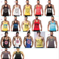 fitness tank tops - New Arrival Gym Shark Stringer Tank Top Men Gymshark Bodybuilding and Fitness Men s Singlets GYM Tank Shirts Sports Tank Top