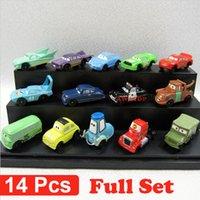 Wholesale 14Pcs set cars pixar cars pvc figure action toy car model kids classic toys for children mack truck mater sally sheriff