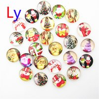 ceramic beads flower - Hot Interchangeable Snap Buttons Christmas Santa Mix styles mm Glass Snap Button Charm Glass Button NOOSA Snaps Jewelry NOOSA chunk AC030