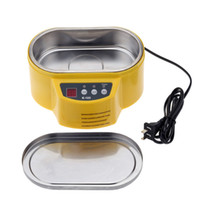 Wholesale 220V quot LED Display Mini Ultrasonic Cleaner for Jewelry Glasses Circuit Board Watch CD Lens Headwear order lt no track