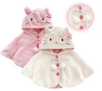 fashion ponchos for - Fashion hello kitty baby girl clothes soft fleece cloak toddler girl clothing cape for outerwear coat baby clothes