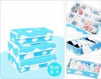 bamboo dresser - Foldable Piece Dresser Drawer Storage Box Closet Divider Set Storage Box for Bra Underwear Socks Scarf Home Organizer