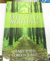 Wholesale 2015 Hot Selling Newest Great Book Worth Reading Effective Writing A Handbook for Accountants by Claire B May Gordon S M