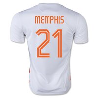 memphis - Thai Quality Customized Netherlands MEMPHIS Jersey Away White Colombia New Soccer Jersey Tops Discount Cheap Football Shirts