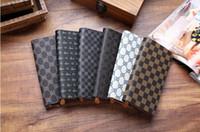 Wholesale New Vintage Women s Zipper Wallet Fine Bifold Brown PU Leather Money Purse Wallet Wallet For Women DHL