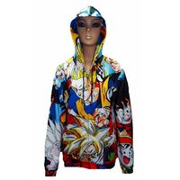 Cheap New Dragonball Z Son Goku Cosplay men Hooded Sweatshirts Anime cartoon printed men women zipper 3d sweatshirt winter clothing