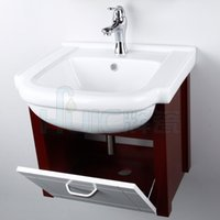 Wholesale European pvc bathroom cabinet oak bathroom cabinet portfolio customized wash washbasin cabinet Special CM small households