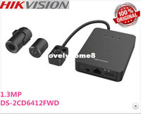 Wholesale 2014 in stock most cost effective Hikvision DS CD6412FWD quot network WDR pinhole camera tube network camera ip camera