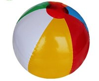 Wholesale PVC Beach Ball Six Colors Inflatable Toy Air filled Ball cm inch Children s toys color