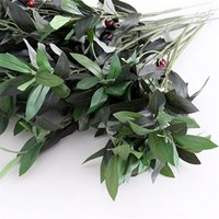 Wholesale 2015 hot artificial olive leaves branch artificial plant cheap price for christmas home festival wedding decoration