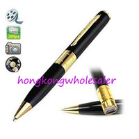 Wholesale Hidden Spy Pen Camera Recorder Cheap w TF Card Socket Super Mini DV BPR6 w Hidden Microphone Cameras No Retail Box