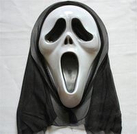 Wholesale Halloween Mask Face Crazy Cosplay Scary Ghost Scream Costume Horror Vendetta Party Clown Evil Creepy Costume Masquerade Carnival Props