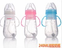 Wholesale Wide diameter and wide diameter with the handle of baby baby bottle ML
