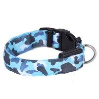 Collar del animal doméstico para el resplandor LED collar de perro Pet Shop Productos para los animales del collar del collar Perro Cachorro con luz LED del gato del perro del camuflaje