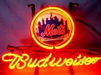 beer new york - new york ny met budweiser baseball real glsss tube neon sign dinsplay beer bar handicraft signs light CLUB store gameroom