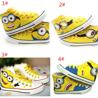 animal boarding - Despicable Me Minions Unisex Canvas Casual Sneakers for Women men high top Hand painted board Shoes size