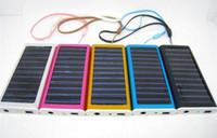 venda por atacado solar cell-Promoção 1350mAh carregador Solar USB Power painel lanterna de bateria para MP3/MP4 PDA celular DHL