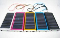 Wholesale Promotion mAh Solar Charger USB Power Panel Battery Flashlight for MP3 MP4 PDA Cell Phone DHL