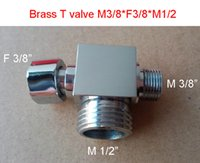 Wholesale Brass Forged Tee Fitting Pipe Chrome Plated M3 quot F3 quot M1 quot Tee Joints Copper T valve