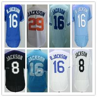 1987 Throwback Kansas City 8 16 Bo Jackson Jersey Gold Blue Stitched White  29 B.Jackson Baseball Sport Shirts Cheap faf885af8