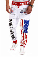 american flag clothing men - Men s Clothing Pants Fashion Men s Casual Sweatpants Baggy Harem Slacks American US Flag Printing Trousers Jogger Dance Sportwear Feet pants