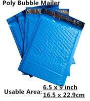 Al por mayor-Nuevo estilo [PB # 69 +] - Azul 6.5X9inch / 165X229MM utilizable burbuja espacio Poli sobres anuncio publicitario rellenado de correo Bolsa autosellante [50pcs]